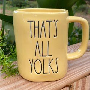 New Rae Dunn Yellow THAT'S ALL YOLKS Coffee Mug
